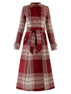 Shop the last 7 days womenswear deliveries from MATCHESFASHION. Luxury Designer clothes, shoes, bags and accessories from designer brands including DVF, Christian Louboutin and Alexander McQueen. Tartan Fashion, Fashion Outfits, Types Of Dresses, Dresses For Work, Coats For Women, Jackets For Women, Classic Trench Coat, Stylish Coat, Fantasy Dress