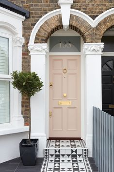Front Doors : Home Door Ideas Front Door Front View Of A Victorian Terrace House.Front Doors : Home Door Ideas Front Door Front View Of A Victorian Terrace House.door doors front home house ideas Bespoke Victorian Terrace House, Victorian Homes, Terrace House Exterior, Victorian House Numbers, Victorian House London, Victorian House Interiors, London House, House Front Door, House Doors