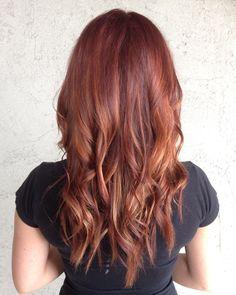 Red balayage #hairpainting #oribeobsessed #avedacolor #avedaartist