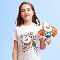 CC03 Colour in Tshirt - Maude the Mermaid B