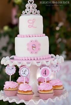 Princess cake and cupcakes. I even have these cake pedestals