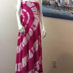 Convertible skirt / dress. Tie dye convertible dress /skirt. Skirt 100% rayon. Waistband 95% rayon 5% spandex. INC International Concepts Dresses
