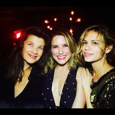 """""""One more pic from our night out in Montreal! I love these two beautiful forces of nature. Joy Lenz and Sophia Bush #fwtm #othfamily #reunion❤️👏 #wehadablast #thanksguestsevents #thankyoufans!!"""" -Daphne Zuniga"""