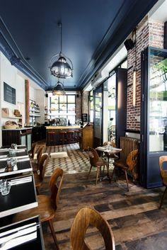 Un restaurant réalisé par Michael Malapert Restaurant design, décoration, idées déco Pour voir d'autres astuces en design : brabbu.com/products