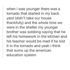 Sadly, the American education system has flaws dating back to the century. Really Funny Memes, Stupid Funny, True Quotes, Funny Quotes, I Hate School, Me Equivoco, School Memes, Education System, Faith In Humanity
