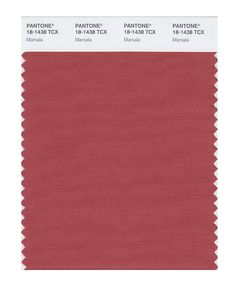 Pantone Color of the Year - Marsala | Blog | FashionClassroom