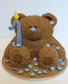 Teddy bear birthday cake.
