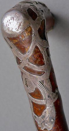 Pommeau de Canne - Argent - 1895