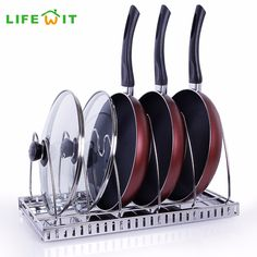 Lifewit Adjustable Stainless Steel Pan Pot Organizer Pot Lid Organizer 6-Frames Kitchenware Cookware Rack Holder Hanger Shelves kitchen table -- AliExpress Affiliate's Pin. Detailed information can be found by clicking on the VISIT button