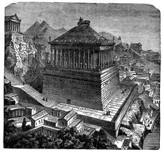 Mausoleum of Halicarnassus, on top there's: kvadriga, where the statues of Mausol and his wife stood