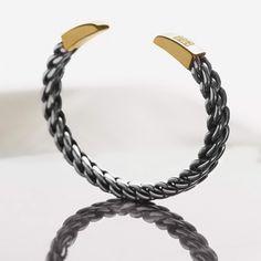 David Yurman Woven Cuff from the Chain Collection.