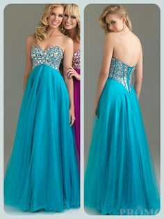 Blue floor length corset back prom dress. Hopefully getting. (: