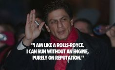 What are some of the wittiest Shahrukh Khan quotes? Bollywood Funny, Bollywood Quotes, Witty Quotes, Life Quotes, Inspirational Quotes, Men Quotes, Attitude Quotes, Shahrukh Khan, Shah Rukh Khan Quotes