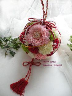 ボールブーケ 花桃