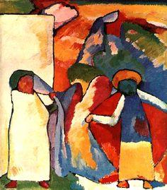 "Expressionismo - Wassily Kandinsky ""Improvisation 6 (Africano)"""
