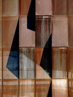 Raif Dinçkök Yalova Cultural Center / Emre Arolat Architects -- detail of facade Metal Facade, Facade Architecture, Contemporary Architecture, Ancient Architecture, Sustainable Architecture, Landscape Architecture, Weathering Steel, Architect Magazine, Steel Panels