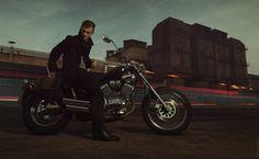 Man, bike, motorcycle, outdoor