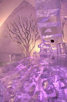 Ice hotel - so pretty!