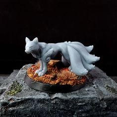 White Tail, Hannya's Familar - Resin / Grey