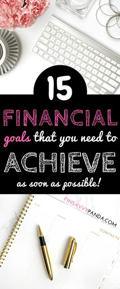 Wondering how you score financially? Here are 15 financial goals you must achieve throughout your life. Start today and you will become financially fit and fab! Find out your financial score via finsavvypanda.com. financial goals | personal finance lessons | personal finance tips | money management tips | financial planning for beginners | get out of debt | financial freedom | money tips | financial checklist | millennial #FinanceTips