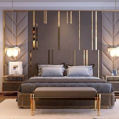 bedroom interior design Comfortable Modern Small Bedroom Design and Decor Ideas Modern Luxury Bedroom, Master Bedroom Interior, Luxury Bedroom Design, Bedroom Bed Design, Luxury Home Decor, Contemporary Bedroom, Luxurious Bedrooms, Home Bedroom, Bedroom Decor