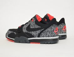 #Nike Air Trainer 1 Low Safari Black #sneakers