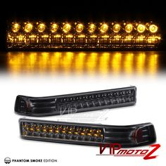 1998-2004 Chevy S10 Blazer Pickup Smoke LED Turn Signal Parking Bumper Lights #VIPMOTOZ