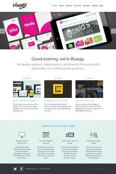 Bluegg - Creative and Digital Design Agency - Website and Identity Design - Webdesign inspiration www.niceoneilike.com