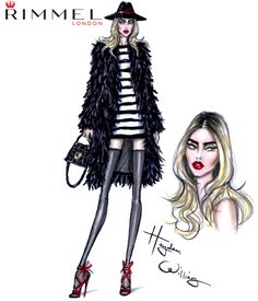 Fashion & beauty look for Rimmel London #LFW day 1. Super chic with a splash of red!