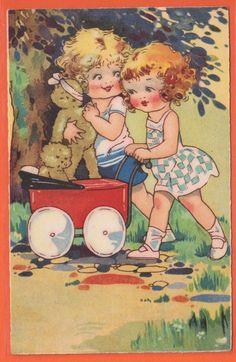 illustr.quenalbertini: Vintage Agnes Richardson Card | eBay