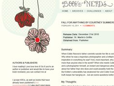 pretty hand-drawn blog design, great colors