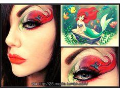 The little mermaid makeup. Mermaid Eye Makeup, Little Mermaid Makeup, Disney Eye Makeup, Ariel Makeup, Disney Inspired Makeup, Mermaid Eyes, The Little Mermaid, Dark Mermaid, Ariel Mermaid