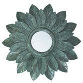 Found it at Wayfair - Metallic Sunflower Mirror Wall Decor