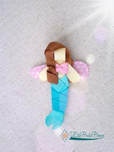 Pinza de pelo de sirena cinta escultura por EllaBellaBowsWI en Etsy