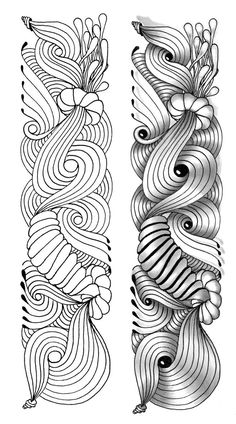 Shading makes all the difference! Zentangle Drawings, Doodles Zentangles, Doodle Drawings, Tangle Doodle, Zen Doodle, Doodle Art, Zantangle Art, Zen Art, Doodle Patterns