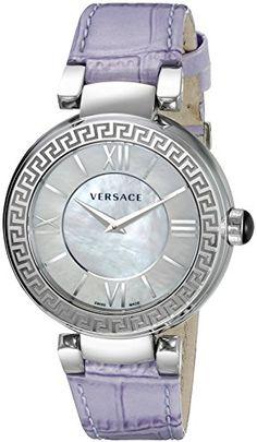Now available Versace Women's VNC150015 Leda Analog Display Swiss Quartz Purple Watch