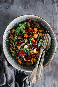 Fall Salad with Lentils, Grapes & Roasted Pumpkin | 18 Fall Salads You Need In Your Life Right Now
