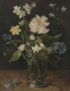 Still Life with Flowers in a Glass, Jan Brueghel (I), c. 1625 - c. 1630