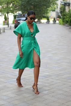 DIY emerald kimono dress – Beaute' J'adore