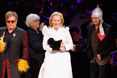 Meryl Streep, Elton John, and Sting shared the stage at the Revlon Concert for the Rainforest Fund at Carnegie Hall in NYC.