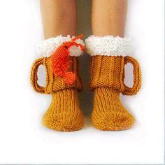 Socks for men. Knit socks Beer & shrimp socks mens socks beer glass socks Man sock Woman socks Knit Socks Handmade gift Wool Socks - Carmen Werner - Make-Up Knitting Socks, Hand Knitting, Knit Socks, Beer Socks, Gifts For Beer Lovers, Diy For Men, Warm Socks, Crochet Slippers, Crochet Gifts