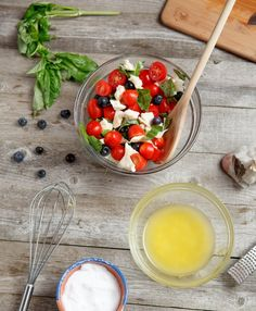 Red, White, and Blueberry Salad: Red, White, and Blueberry Salad. This quick and easy blueberry caprese salad makes for a great summer BBQ