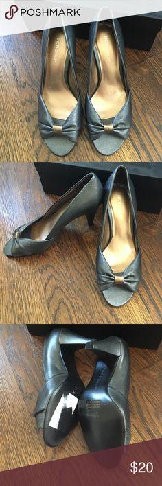 BCBGirls gunmetal gray heels size 6 New. Size 6. BCBGirls Shoes Heels