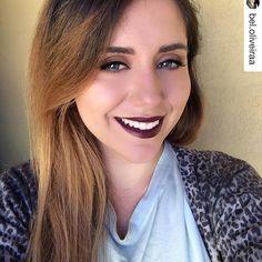 @bel.oliveiraa usando o Soft Matte Lip Cream Transylvania