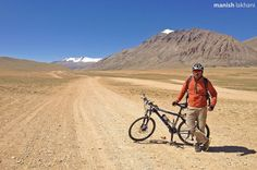 www.withManish.com Cycling on such beautiful roads wasn't so fun but it gave me sense of achievement.  Changthang this cold desert belongs to it's hardcore people known as Changpa.  Average elevation of this place is 4500 meters and thin air makes it little more challenging for everyone.  But after theses all troubles and challenges when we take it as part of game it's really fun and joy otherwise 5 stars properties will be not give you joy.  And real fun to find someone to take your picture…