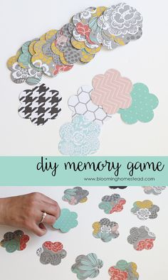 DIY Memory Match Game by Blooming Homestead! Such an easy craft idea!