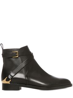 FRATELLI ROSSETTI - 20MM BELTED CALF LEATHER ANKLE BOOTS - LUISAVIAROMA