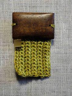 Zen Brooch - Green Rectangle by 3 Sheets