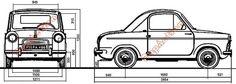 Vespa 400: dimensions de la Vespa400 Vespa 400, Piaggio Vespa, Dimensions, Cars, Mini, Vespas, Autos, Car, Automobile