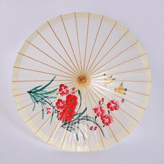 Oiled Paper Wedding Umbrella with Orchid Painting Note:Every oil paper umbrella features a flavor of tung oil and the color…